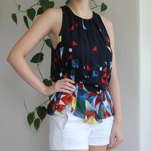 Joie silk multicolored blouse size S